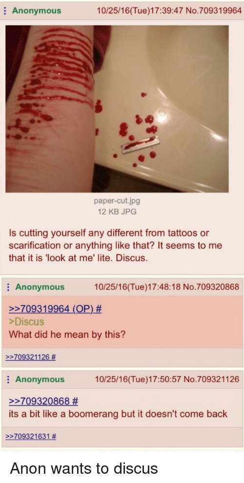 the best way to cut yourself