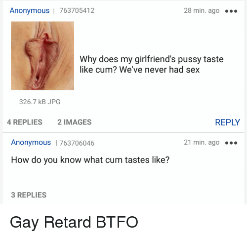 What does cum tast like