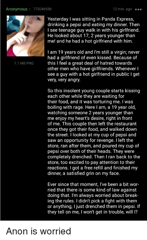 19 years old and never had a girlfriend