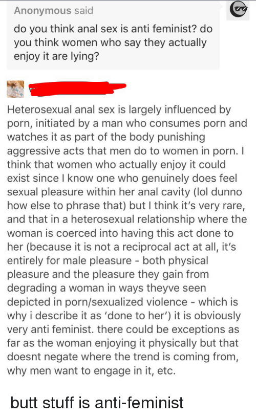 woman enjoy a anal sex Does