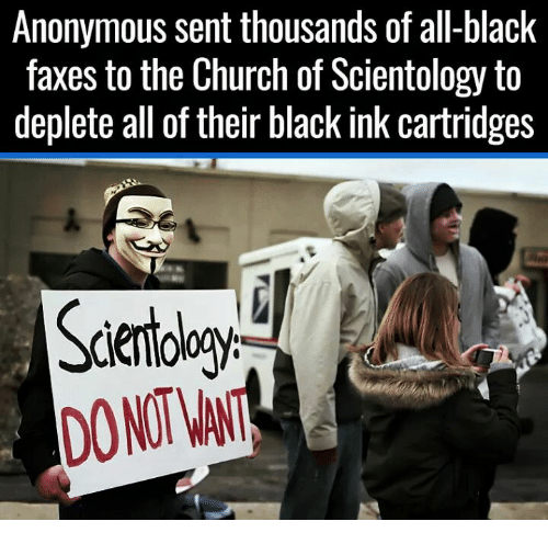 anonymous sent thousands of all black faxes to the church of 7586162 anonymous sent thousands of all black faxes to the church of