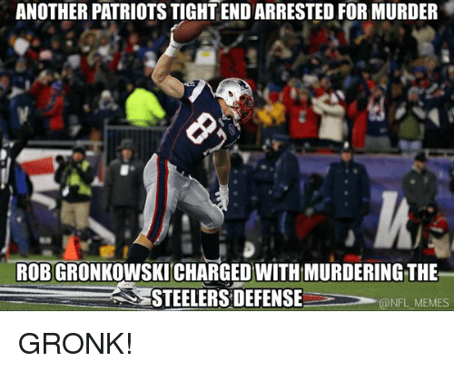 Another Patriotstightend Arrested For Murder Robgronkowskicharged