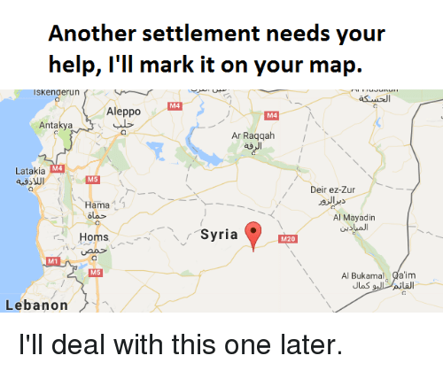 Another Settlement Needs Your Help Ill Mark It on Your Map