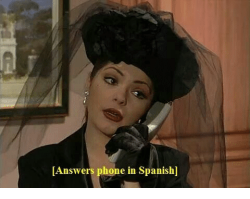 Phone, Spanish, and Answers: Answers phone in Spanish]