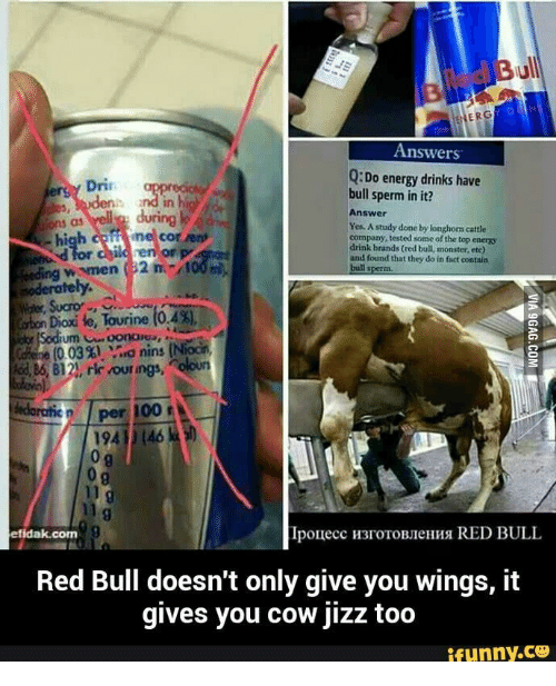 Answers QDo Energy Drinks Have Dri Bull Sperm In It