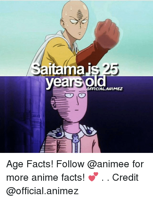 Anime, Facts, and Memes: antamai  years old  OAFICIAL ANIMEZ Age Facts! Follow @animee for more anime facts! 💕 . . Credit @official.animez