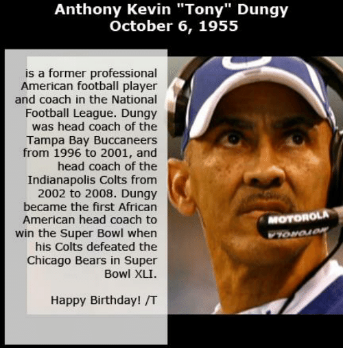 anthony kevin tony dungy october 6 1955 is a former 7062210 ✅ 25 best memes about bears defense bears defense memes