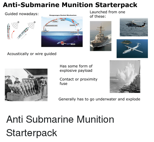 Anti-Submarine Munition Starterpack Launched From One of