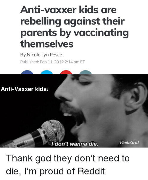 Anti-Vaxxer Kids Are Rebelling Against Their Parents by Vaccinating