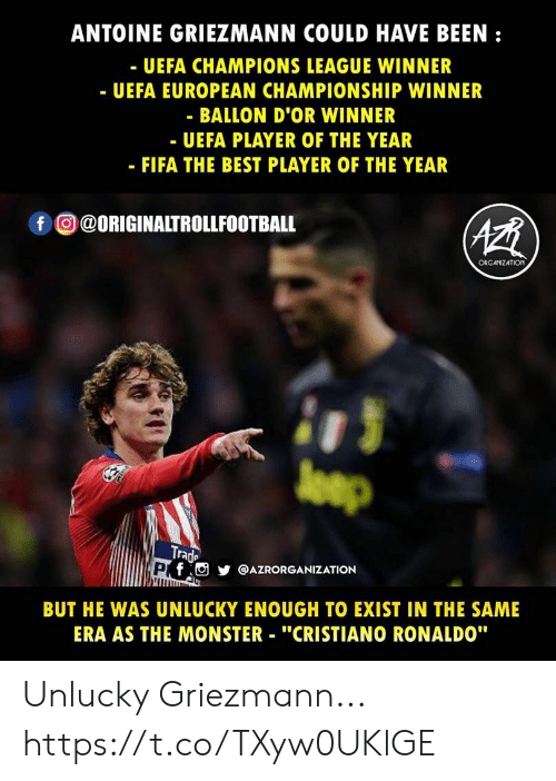 3f05fc65d4a6 ANTOINE GRIEZMANN COULD HAVE BEEN - UEFA CHAMPIONS LEAGUE WINNER ...
