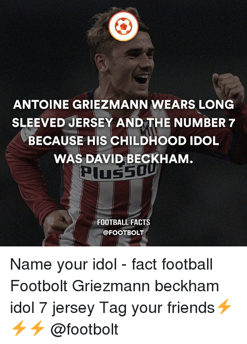 758017f9b ANTOINE GRIEZMANN WEARS LONG SLEEVED JERSEY AND THE NUMBER 7 BECAUSE ...