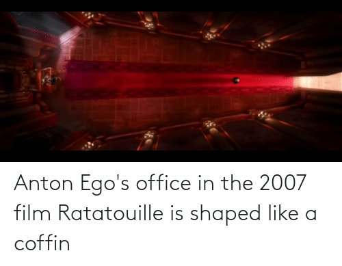 anton ego s office in the film ratatouille is shaped like a
