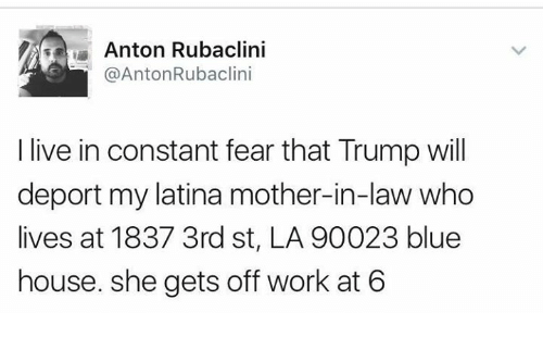 Deportation Constant Fear For >> Anton Rubaclini I Live In Constant Fear That Trump Will Deport My