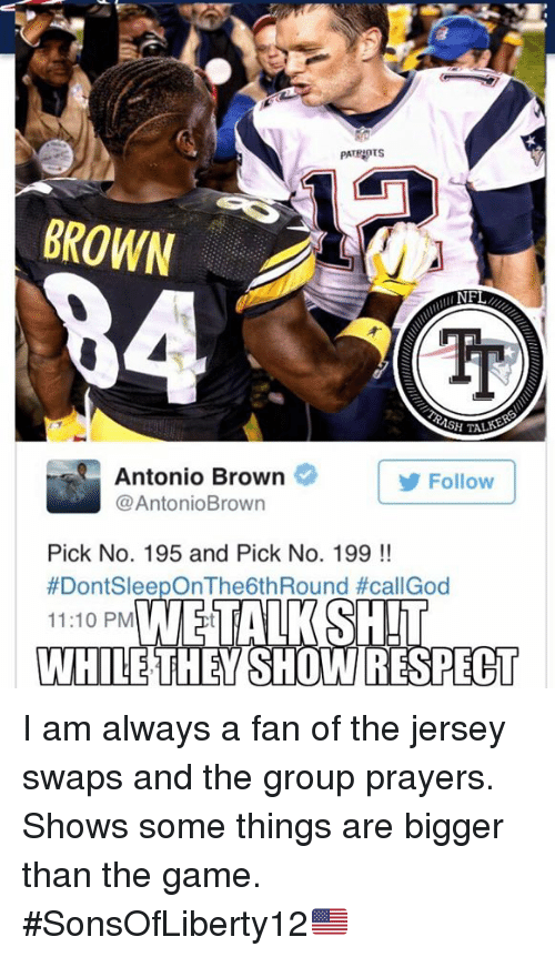antonio brown jersey swap