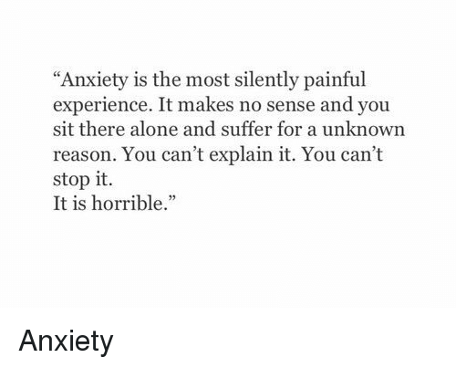 anxiety for no reason