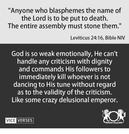 Anyone Who Blasphemes the Name of the Lord Is to Be Put to