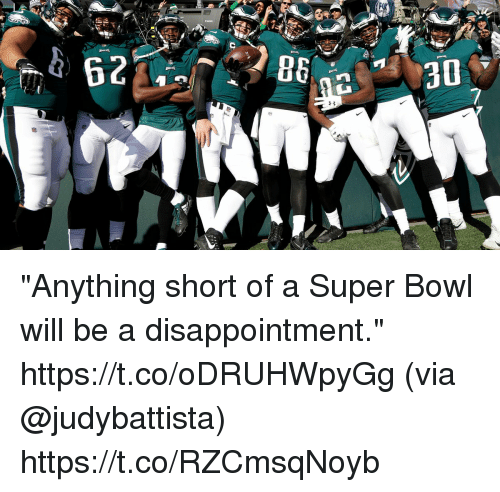 "Memes, Super Bowl, and Bowl: ""Anything short of a Super Bowl will be a disappointment."" https://t.co/oDRUHWpyGg (via @judybattista) https://t.co/RZCmsqNoyb"