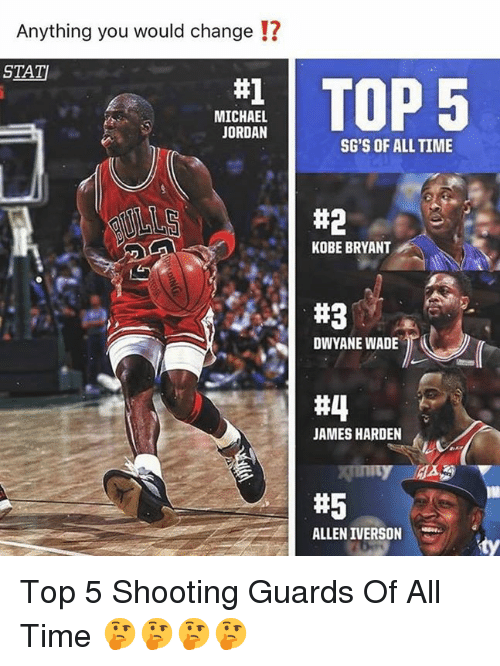 f3c28ae4049d Anything You Would Change !  STAT TOP 5  1 MICHAEL JORDAN SG S OF ...