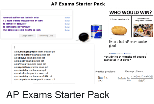 AP Exams Starter Pack WHO WOULD WIN? How Much Caffeine Can I