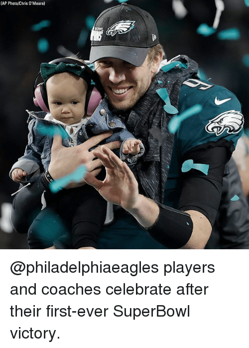 Memes, Superbowl, and Bowl: (AP Photo/Chris 0'Meara)  BOWL @philadelphiaeagles players and coaches celebrate after their first-ever SuperBowl victory.