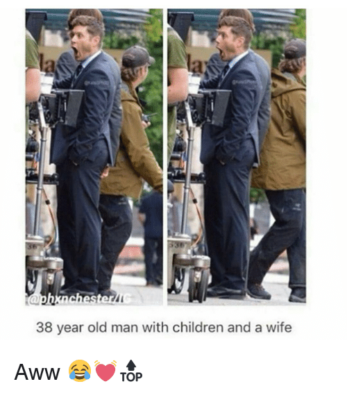 Aww, Memes, and Old Man: aphxnchest  38 year old man with children and a wife Aww 😂💓🔝