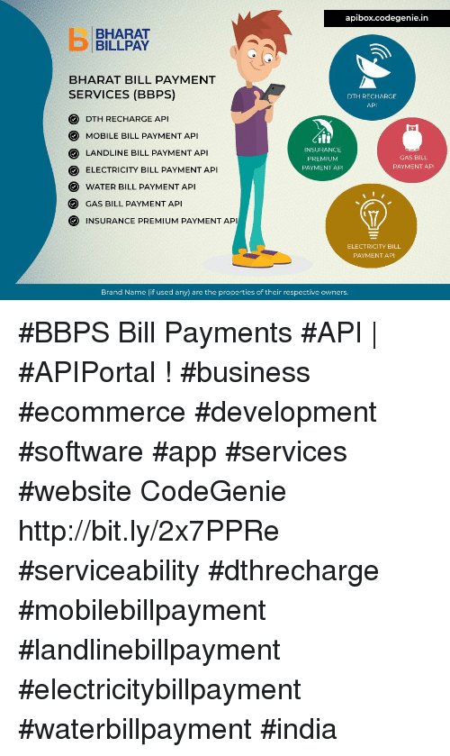 Apiboxcodegeniein BHARAT BILLPAY BHARAT BILL PAYMENT SERVICES BBPS