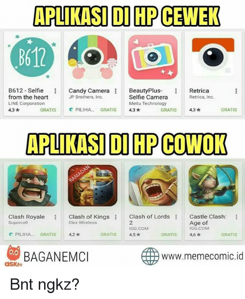 Aplikasi Di Hpcewek B612 B612 Selfie Candy Camera Beauty Plus