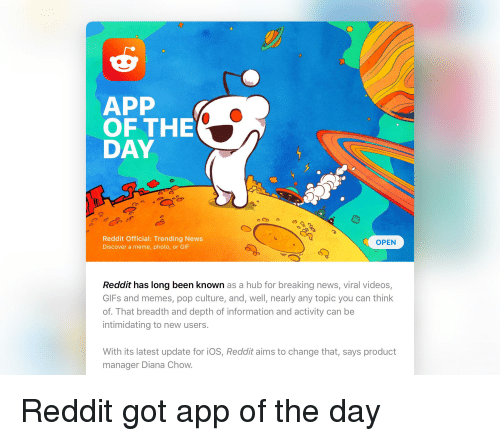 APP OF THE DAY Reddit Official Trending News Discover a Meme