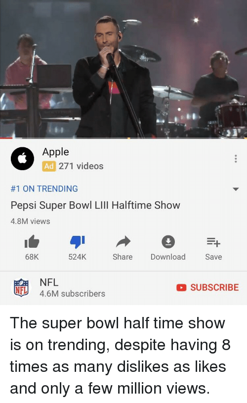 Apple Ad 271 Videos #1 ON TRENDING Pepsi Super Bowl LIll