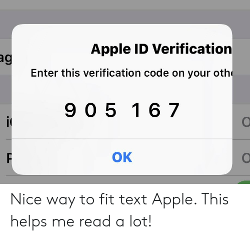 Apple ID Verification Enter This Verification Code on Your