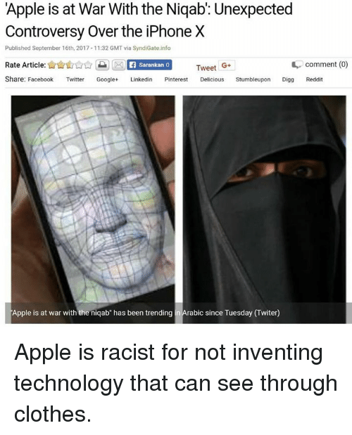 Apple Is at War With the Niqab' Unexpected Controversy Over the