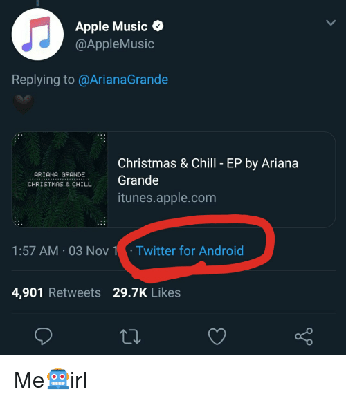 Christmas And Chill.Apple Music Replying To Christmas Chill Ep By Ariana