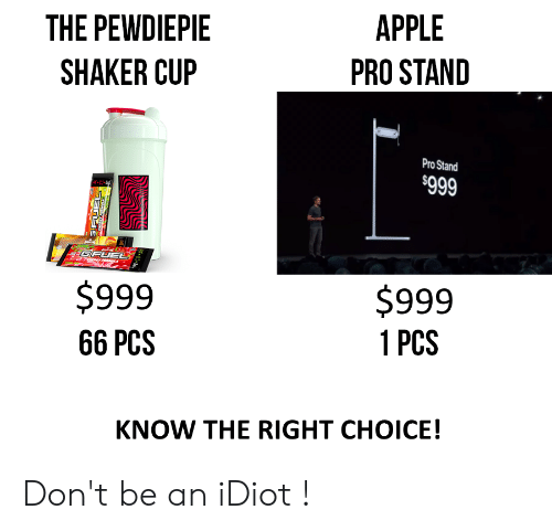 APPLE THE PEWDIEPIE PRO STAND SHAKER CUP Pro Stand $999 FGFUEL $999