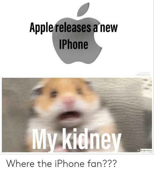 Iphone, Phone, and Express: Applereleases a new  Phone  Express  My kicne  Express  PS Where the iPhone fan???