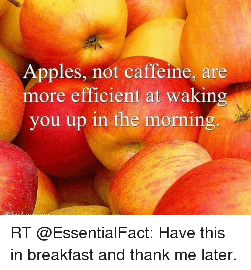 Apples Not Caffeine Are More Efficient at Waking You Up in the ...