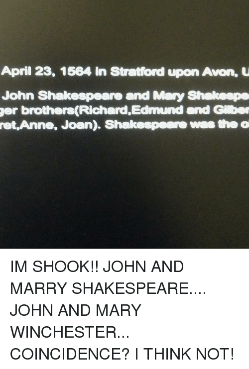 Avon Memes And Shakespeare April 23 1564 In Stratford Upon