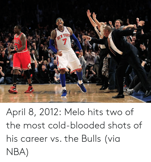 Nba, Bulls, and Cold: April 8, 2012:  Melo hits two of the most cold-blooded shots of his career vs. the Bulls (via NBA)