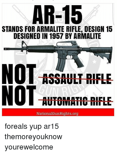ar 15 stands for armalite rifle design 15 designed in 1957 by