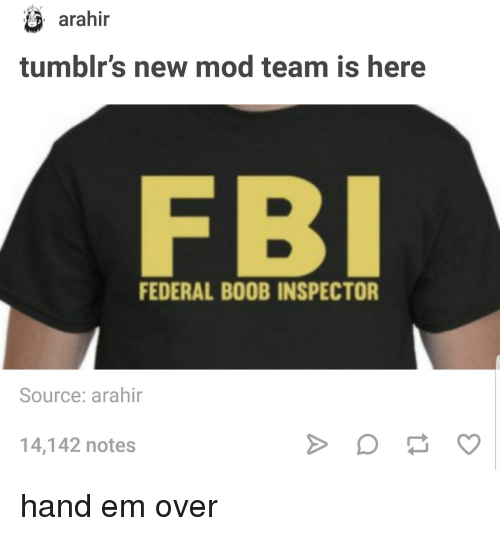 Remarkable, the federal boob inspectors consider