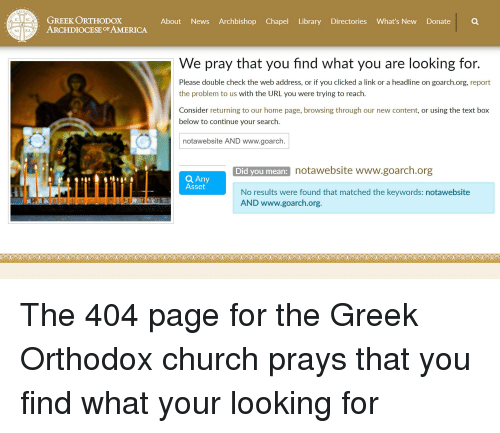 ARCHD GREEK ORTHODOX ARCHDIOCESE OF AMERICA About News