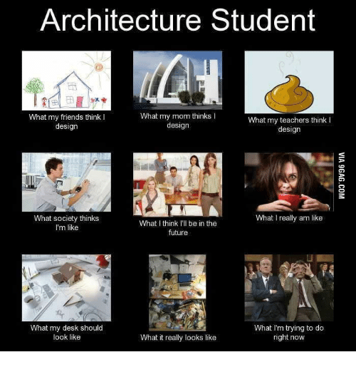 Architecture Student What My Mom Thinks What My Friends