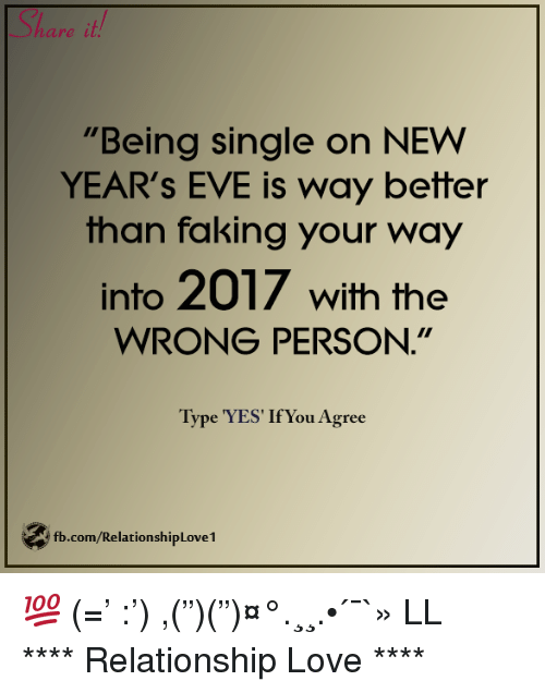 Being single on new years eve
