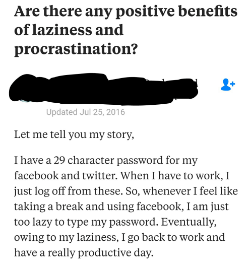 Girl procrastination is a lot like masturbation
