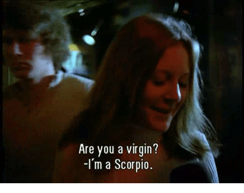 Virgin, Scorpio, and You: Are you a virgin?  -Im a Scorpio.