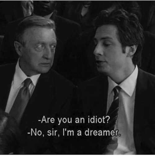Are You An Idiot No Sir I M A Dreamer Meme On Me Me