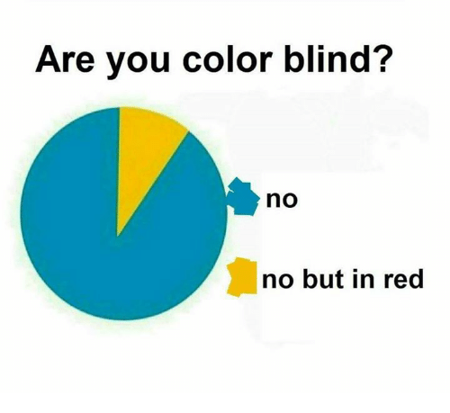 Red, Color, and Color Blind: Are you color blind?  no  no but in red