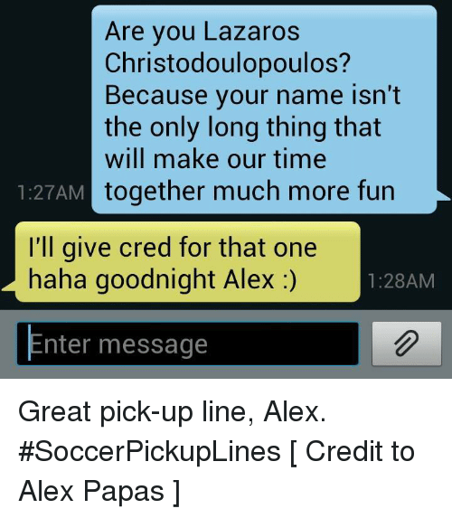soccer pick up lines