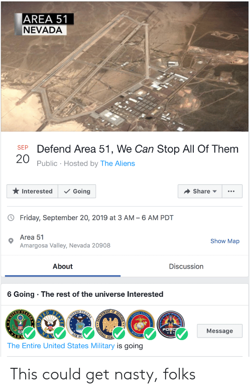 AREA 51 NEVADA Defend Area 51 We Can Stop All of Them SEP 20 Public