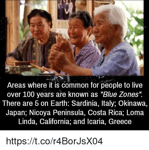 Areas Where It Is Common for People to Live Over 100 Years
