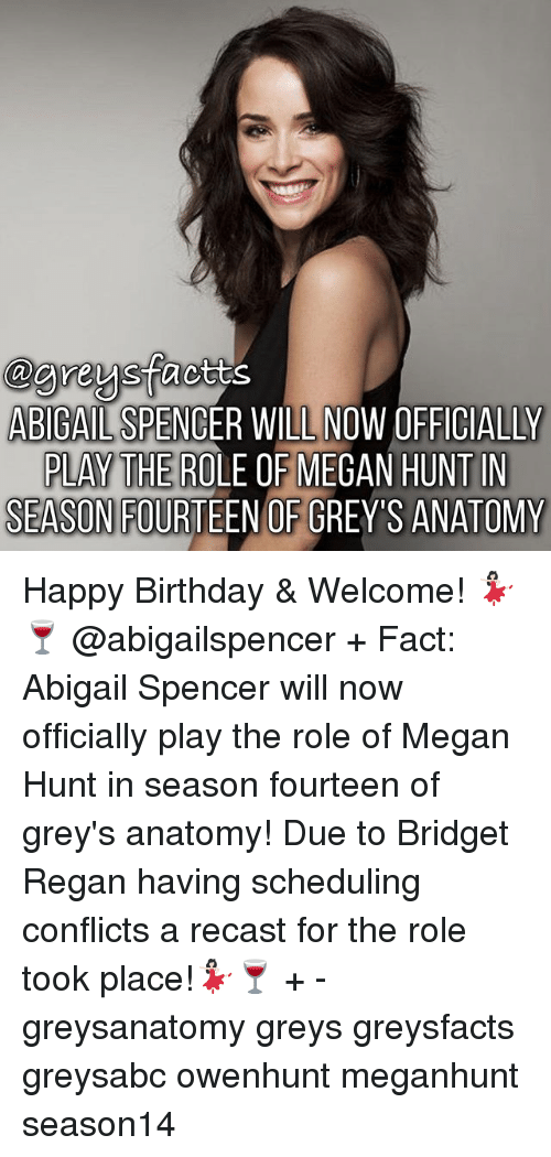 ABIGAIL SPENCER WILL NOW OFFICIALLY F MEGAN HUNT IN PLAY THE ROLE O ...
